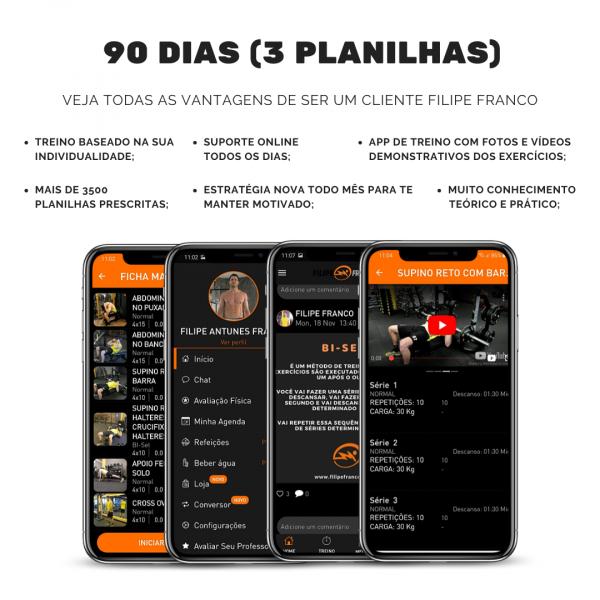 90 dias de consultoria fitness online FILIPE FRANCO PERSONAL TRAINER